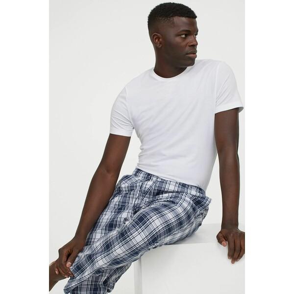 H&M Spodnie piżamowe 0523936045 Ciemnoniebieski/Biała krata