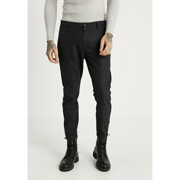 Gabba PISA CHINO NIGHT BALANCE Spodnie materiałowe blue check G5022E00E