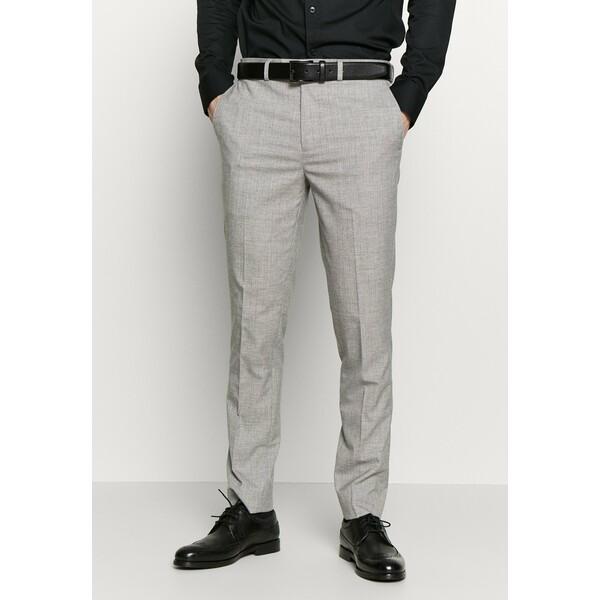 Burton Menswear London STRIPE Spodnie garniturowe grey M0822A0BL