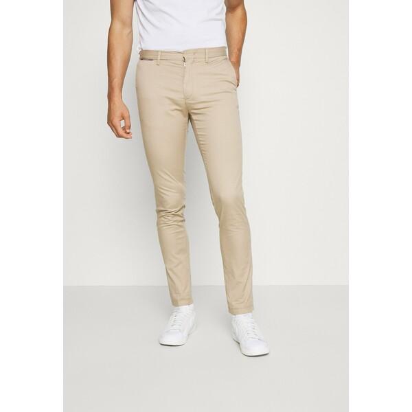Tommy Hilfiger BLEECKER FLEX SOFT Spodnie materiałowe beige TO122E059