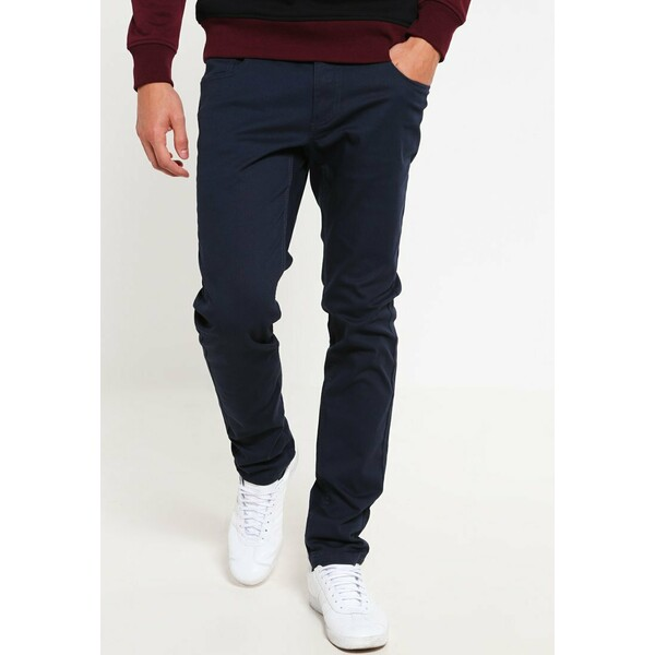 Pier One Spodnie materiałowe dark blue YO122E00Y