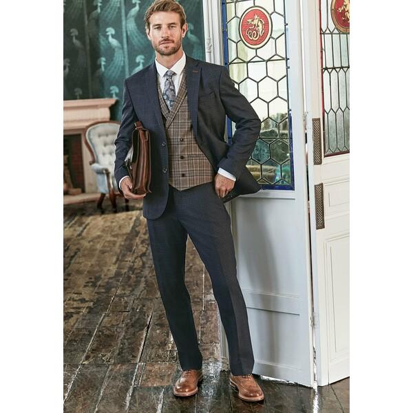 Next REGULAR FIT CHECK SUIT Spodnie garniturowe blue NX322E0IH
