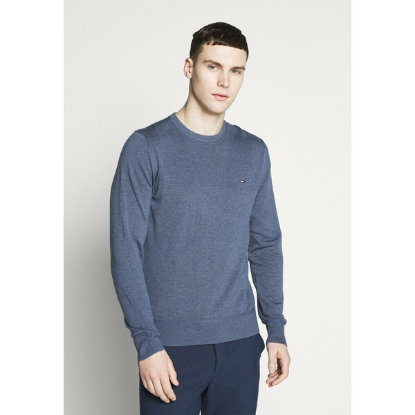 Tommy Hilfiger CREW NECK Sweter blue TO122Q072