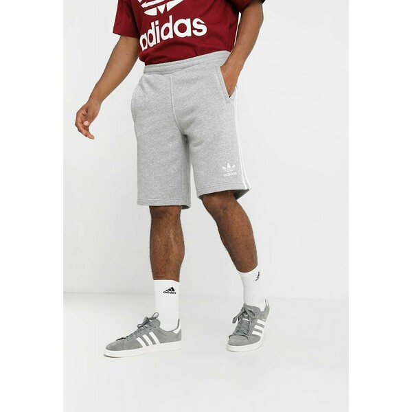adidas Originals 3 STRIPE UNISEX Spodnie treningowe medium grey heather AD122F03E