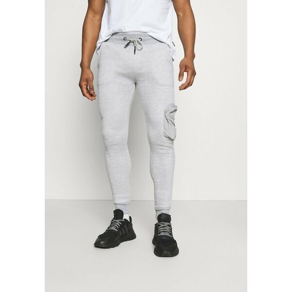 Brave Soul HOUDINI Spodnie treningowe light grey marl BRH22E035