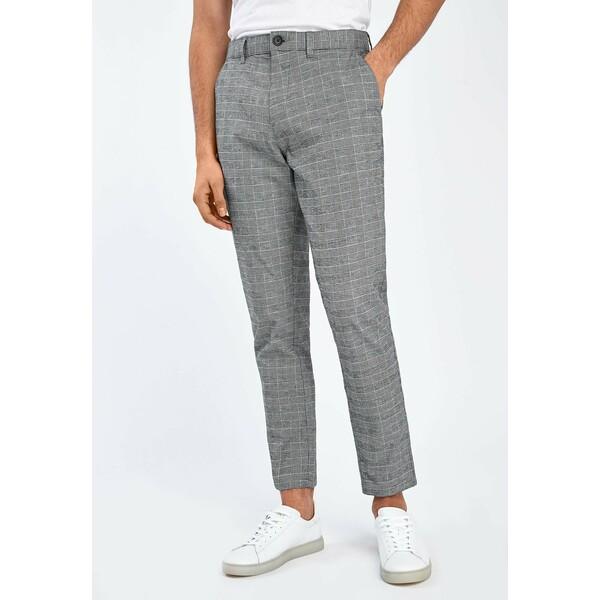 Next GREY TAPERED SLIM FIT CHECK CHINOS Spodnie materiałowe grey NX322E0E1