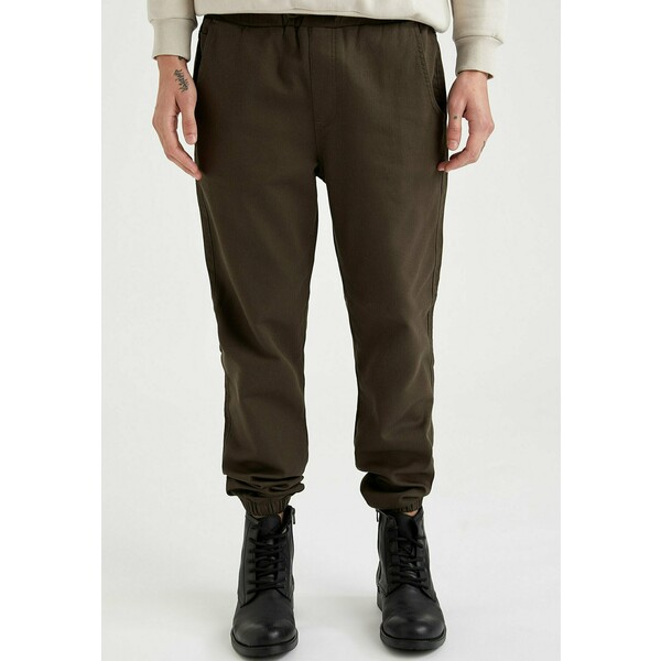 DeFacto Spodnie materiałowe khaki DEZ22E06U