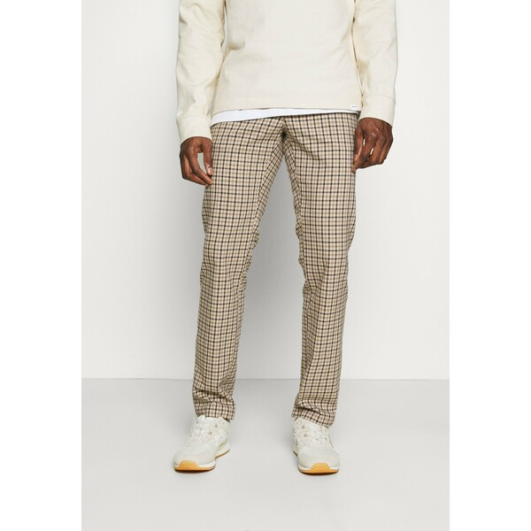 Tommy Hilfiger DENTON GINGHAM CHECK Spodnie materiałowe beige TO122E06C