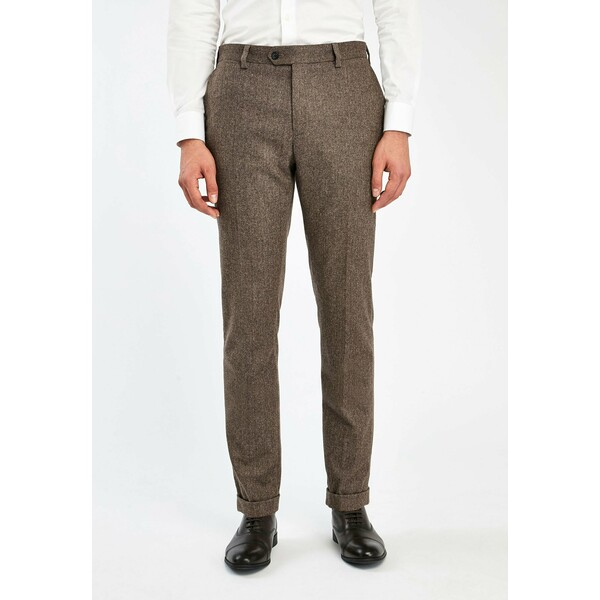 Next Spodnie garniturowe brown NX322A0DK