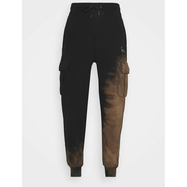 Karl Kani SMALL SIGNATURE BLEACHED UNISEX Spodnie treningowe black KK121003J