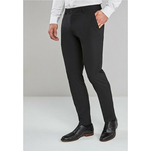 Next Spodnie garniturowe black NX322E08D