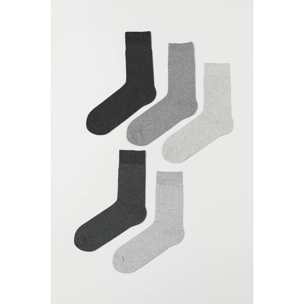H&M Skarpety 5-pak 0452818001 Szary melanż