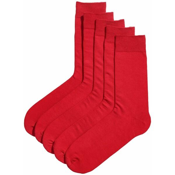 H&M Skarpety 5-pak 0452818001 Czerwony