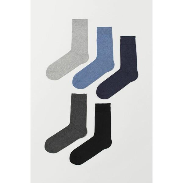 H&M Skarpety 5-pak 0452818001 Ciemnonieb./Niebieski melanż
