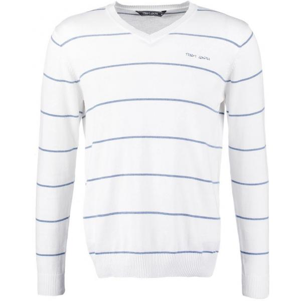 Teddy Smith PATBURRY Sweter blanc/coronet blue chine TS122Q00G-A11