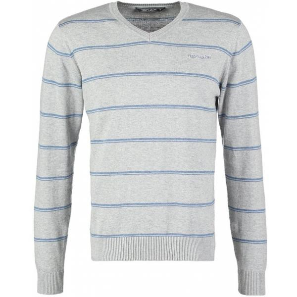 Teddy Smith PATFULLY Sweter gris chine/ blue TS122Q006-C11