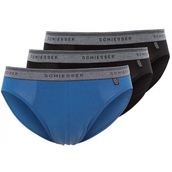 Schiesser 3 PACK Figi schwarz/blau S5982A00I-Q11