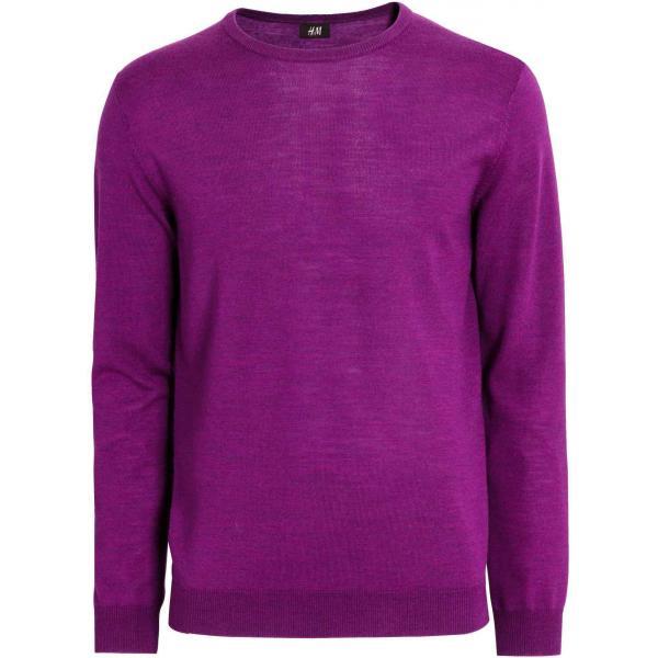 H&M Sweter z wełny merynosowej 0298192002 Fioletowy