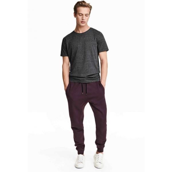 H&M Sweatpants Tapered 0320870008 Dark purple