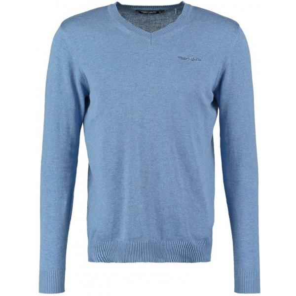 Teddy Smith PULSER Sweter bleu horizon chine TS122I002-K14