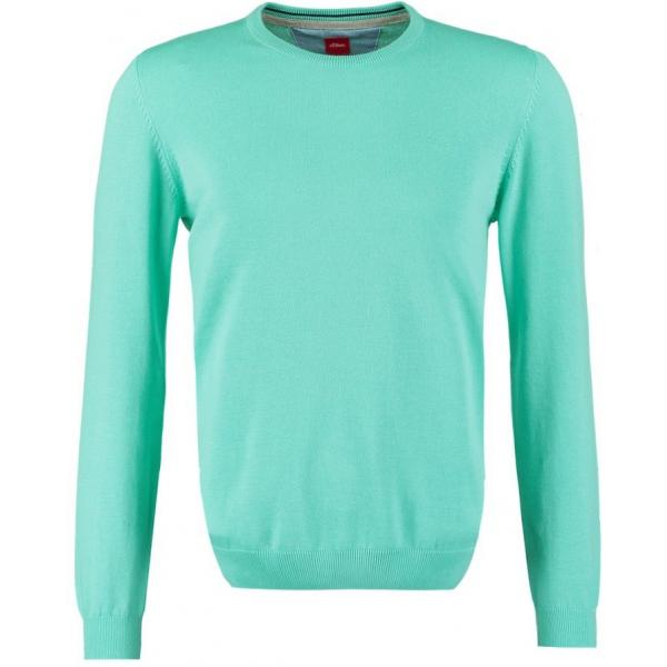 s.Oliver Sweter pale turquoise SO222Q02W-M12