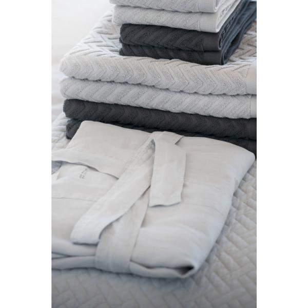 H&M Szlafrok lniany 0107727017 Biały