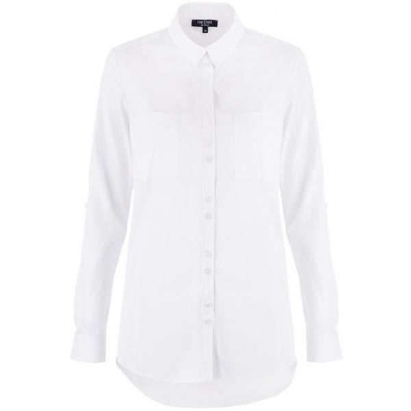 FEMESTAGE Eva Minge Klasyczna długa koszula biała  R9Drt