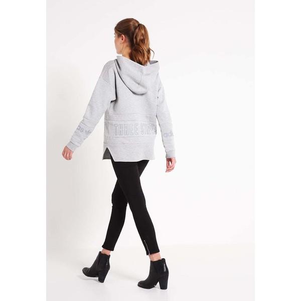 adidas Originals Bluza z kapturem grey zalando szary bawełna