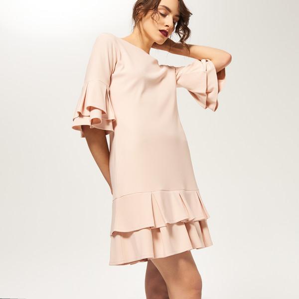 Reserved Sukienka z falbankami RB823 03X UbierzmySie.pl