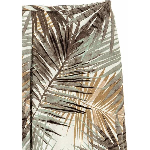 H&M Długa spódnica we wzory 0500134002 Naturalna bielLiść