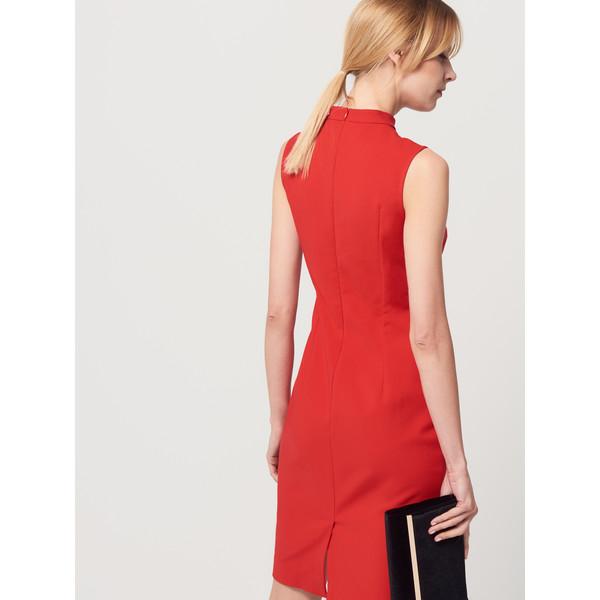 Mohito Czerwona sukienka z chokerem SE505 33X MojeSukienki.pl