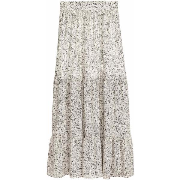 Długa spódnica we wzory Naturalna bielLiść ONA | H&M PL