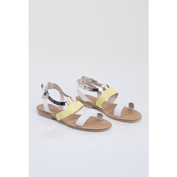 Sandały z barwnymi paskami