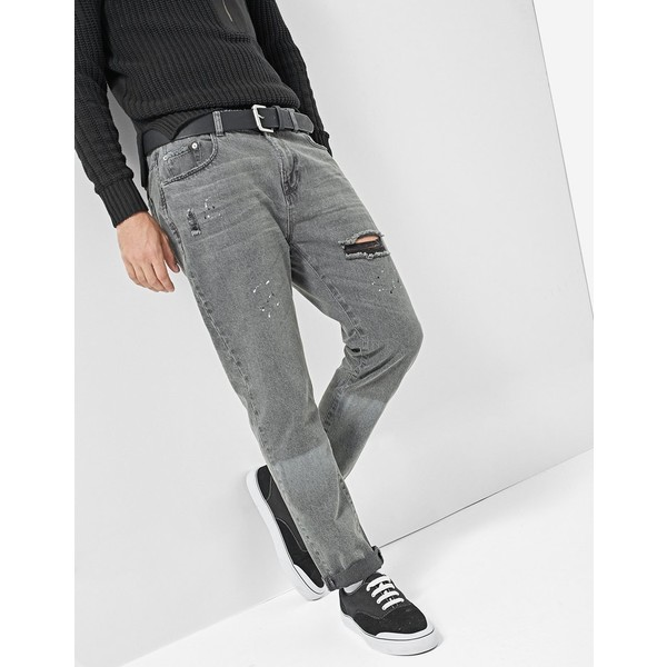 Stradivarius Jeansy tappered shadow 8585/304
