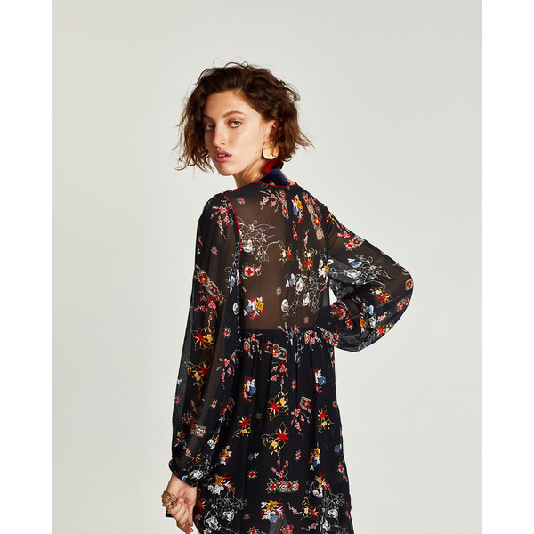 sukienka z pomponami zara s