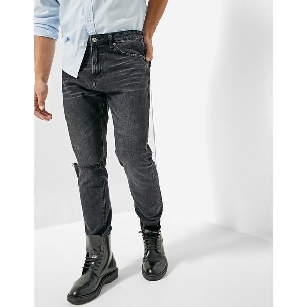 Stradivarius Spodnie jeansowe typu tappered 8580/315