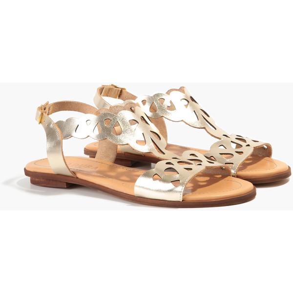4356-69-1234 sandały złote