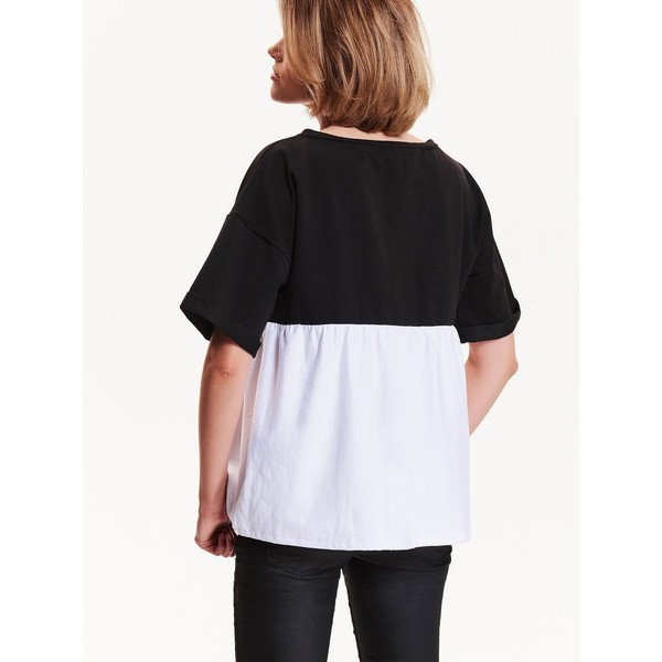 luźna czarno biała bluza damska