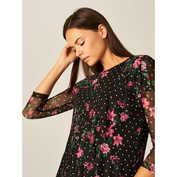 Tiulowa sukienka w kwiaty After Hours, MOHITO, TH138 99X