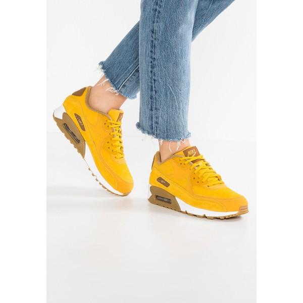 Nike Sportswear AIR MAX 90 SE Tenisówki i Trampki mineral yellowelemental goldlight brownale brown zolty Zalando