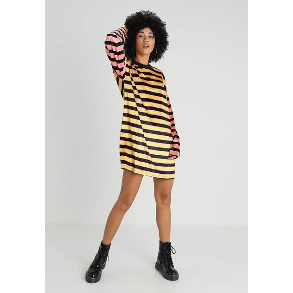 The Ragged Priest MULTI STRIPE SKATER DRESS WITH CONTRAST