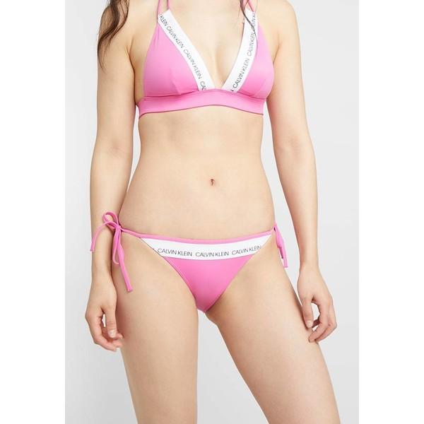 Calvin Klein Swimwear LOGO STRING SIDE TIE Dół od bikini phlox pink C1781I00U