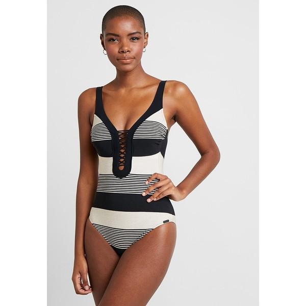 Maryan Mehlhorn VOYAGE SWIMSUIT Kostium kąpielowy black/sand M4M81G000