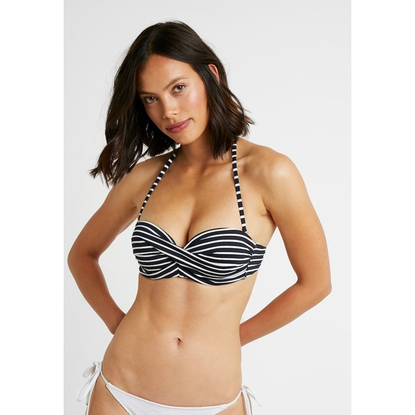 s.Oliver WIRE BAND Góra od bikini black/white SO281J00R