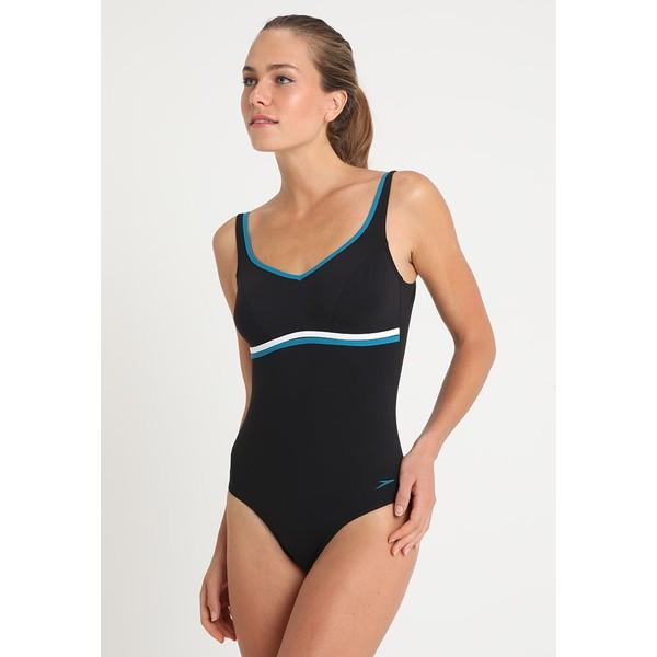 Speedo CONTOURLUXE Kostium kąpielowy black/blue 1SP81G02F